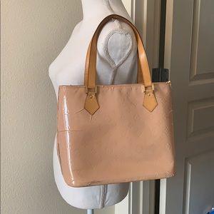 Auth Louis Vuitton Vernis Houston Shoulder Bag!